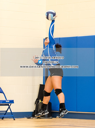 Girls Varsity Volleyball: Kennebunk defeated Cheverus 3-2 on October 10, 2017 at Kennebunk High School in Kennebunk, Maine.
