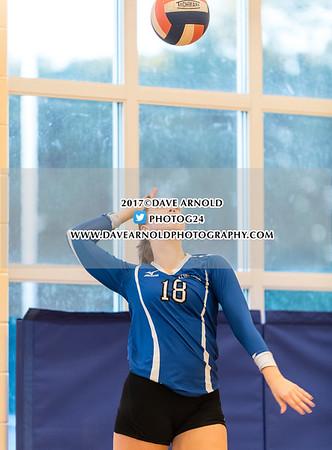 Girls Varsity Volleyball: Kennebunk defeated Cheverus 3-2 on October 10, 2017 at Kennebunk High School in Kennebunk, Maine.