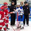 Boys Varsity Hockey: Kennebunk defeated South Portland 2-0 on December 9, 2016 at the University of New England in Biddeford, Maine.