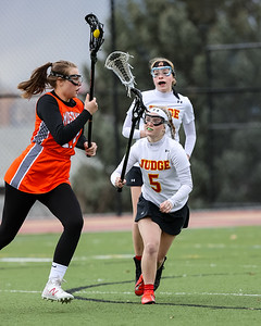 Salt Lake City, UT - Tuesday March 23, 2021: Girls Varsity Lacrosse. Mountain Crest at Judge Memorial at Judge Memorial High School. ©2021 Bryan Byerly