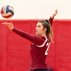 Girls Varsity Volleyball: Melrose defeated Belmont 3-0 on October 2, 2018 at Melrose High School in Melrose, Massachusetts.