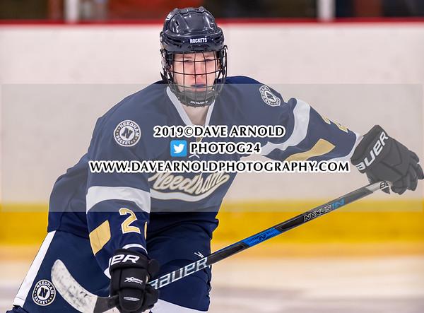 Boys Varsity Hockey: Needham defeated Milton 4-1 on January 30, 2019 at the Ulin Memorial Rink in Milton, Massachusetts.
