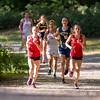 Needham Girls Junior Varsity X-Country in  the BSC Quad Meet against Milton, Dedham and Brookline on September 16, 2015 at Houghtons Pond in Milton, Massachusetts.