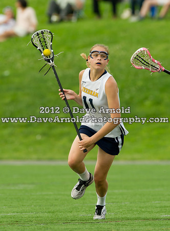 Needham Girls Varsity Lacrosse defeated Whitman-Hanson 17-2 in the first round of the MIAA Division 1 South Tournament on May 30th, 2012, at Needham High School in Needham, Massachusetts.