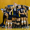 Newton North Girls Varsity Volleyball defeated Needham 3-1 on October 25, 2012, at Needham High School in Needham, Massachusetts.
