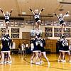 Needham Varsity Cheerleading  on January 15, 2015,  at Needham High School, in Needham, Massachusetts.