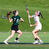 Needham Girls Varsity Lacrosse defeated Duxbury 13-5 on April 29, 2015, at Needham High School in Needham, Massachusetts.