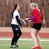 Needham Girls Varsity Frisbee verses Somerville  on April 7, 2015, in Somerville, Massachusetts.