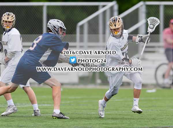 Boys Varsity Lacrosse: Brookline defeated Needham 7-6 on May 17, 2016, at Needham High School in Needham, Massachusetts.