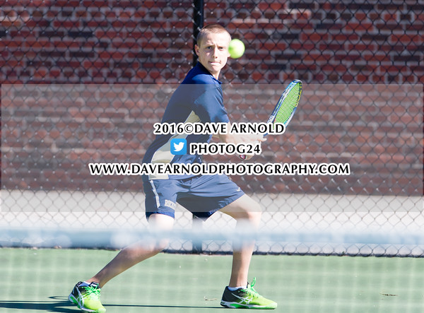 Boys Varsity Tennis: Needham defeated Walpole 5-0 on May 9, 2016, at Needham High School in Needham, Massachusetts.