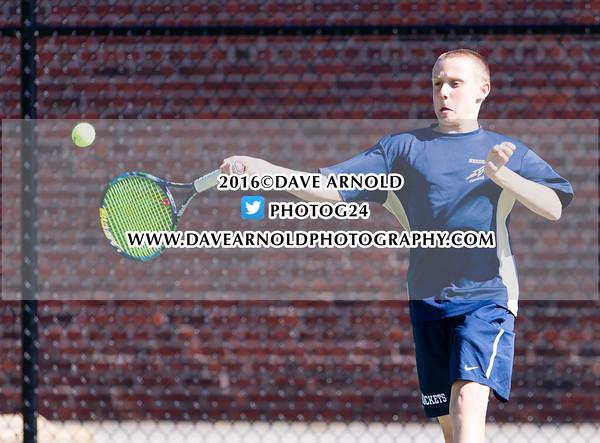 Boys Varsity Tennis: Needham defeated Walpole 5-0 on May 9, 2016, at Needham High School in Needham, Massachusetts.