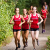 Girls Varsity Cross Country Quad-Meet: Needham, Braintree, Milton and Dedham on September 14, 2016, at Needham High School in Needham, Massachusetts.