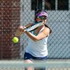 Girls Varsity Tennis: Wellesley defeated Needham 5-0 on May 1, 2018 at Needham High School in Needham, Massachusetts.