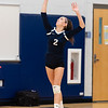Girls Varsity Volleyball: Brookline defeated Needham 3-0 on October 9, 2018 at Needham High School in Needham, Massachusetts.