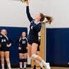 Girls Varsity Volleyball: Brookline defeated Needham 3-0 on October 9, 2018 at Needham High School in Needham, Massachusetts.