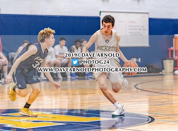 Boys JV Basketball: Needham in action against  Framingham  on February 5, 2019 at the Needham High School in Needham Massachusetts.