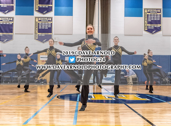 Needham Varsity Dance in action on February 5, 2019 at the Needham High School in Needham Massachusetts.