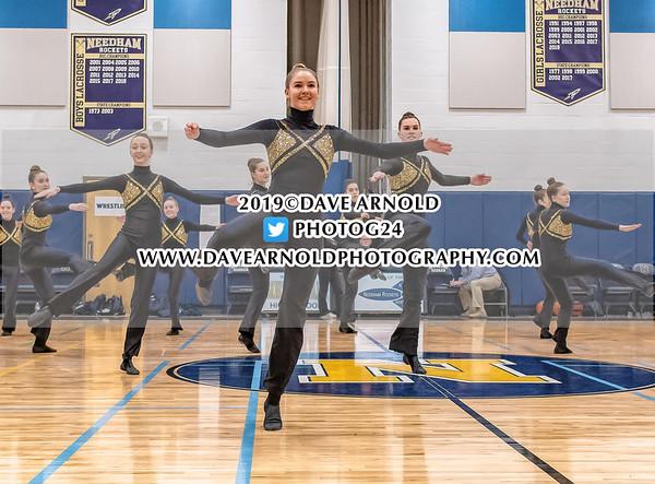 Needham Varsity Dance in action on February 5, 2019 at the Needham High School in Needham Massachusetts.