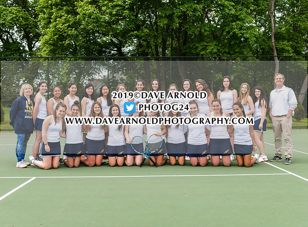 Girls Varsity Tennis: Needham defeated Weymouth 4-1 on May 15, 2019 at Needham School in Needham, Massachusetts.