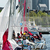 Varsity Sailing: Needham in action at the MBL Championships on May 20, 2019 on the Charles River in Boston Massachusetts, Massachusetts.