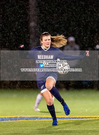 Girls Varsity Soccer: MIAA D1 South Quarter Final - Needham defeated Wellesley 2-1, in overtime, on November 7, 2019 at Needham High School in Needham, Massachusetts.