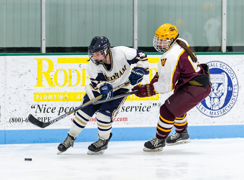 Girls Varsity Hockey: Needham defeated Weymouth 6-1 on January 4, 2017 at the Babson Skating Center in Wellesley, Massachusetts.