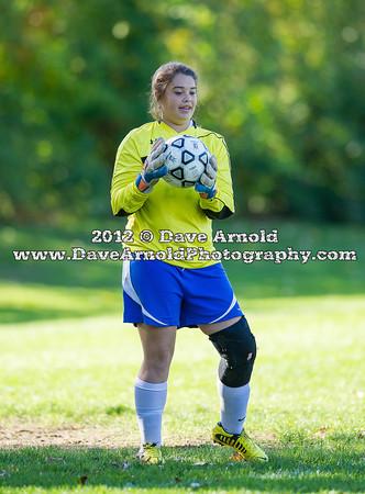 Dedham Girls Varsity Soccer defeated Norwood 4-0 on October 10, 2012, at Norwood High School, in Norwood, Massachusetts.