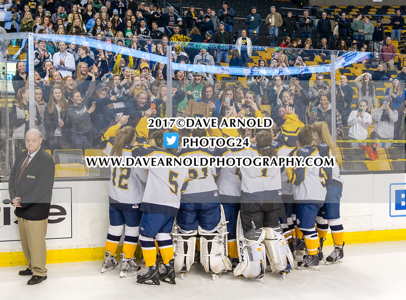 MIAA Girls Division 2 State Championship: Notre Dame defeated Canton 5-2 on March 19, 2017 at the TD Garden in Boston, Massachusetts.