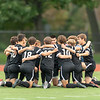 Boys Varsity Soccer: Reading defeated Belmont 2-0 on October 1, 2018 at Reading High School in Reading, Massachusetts.