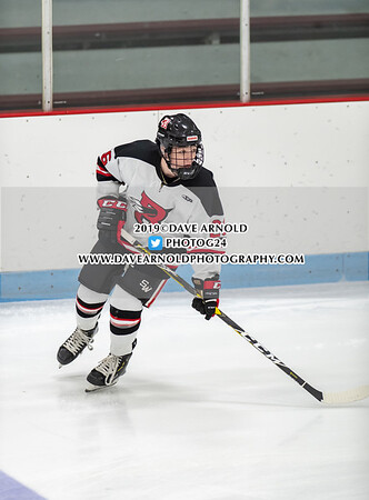 Boys Varsity Hockey: Reading defeated St. John's Prep 2-1 on January 2, 2019 at the Burbank Ice Arena in Reading, Massachusetts.