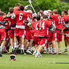 Boys Varsity Lacrosse: Reading defeated Concord-Carlisle 11-9  to win the MIAA 2018 Division 2 State Championship on June 24, 2018 at Nickerson Field in Boston, Massachusetts.