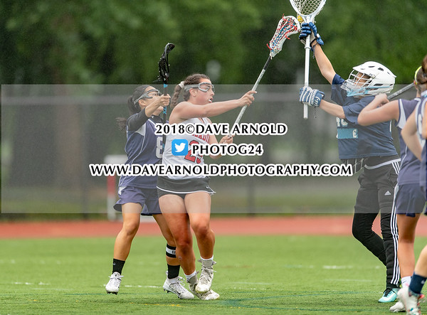 Girls Varsity Lacrosse: Reading defeated Peabody 12-6 in the MIAA D1 North 1st round on June 4, 2018 at Reading Memorial High School in Reading, Massachusetts.