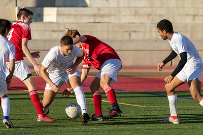 Salt Lake City, UT - Wednesday March 04, 2020: High School Varsity Boys Soccer. Layton Christian Academy vs Judge Memorial at Judge Memorial High School. ©2020 Bryan Byerly