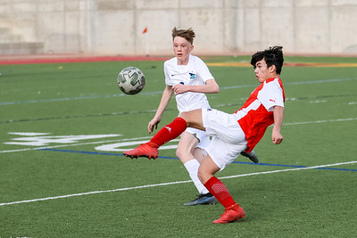 Salt Lake City, UT - Monday March 08, 2021: Boys Varsity Soccer. Juan Diego at Judge Memorial at Judge Memorial High School. ©2021 Bryan Byerly