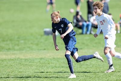 Salt Lake City, UT - Friday April 09, 2021: Boys Varsity Soccer. East vs Skyline at Skyline High School. ©2021 Bryan Byerly