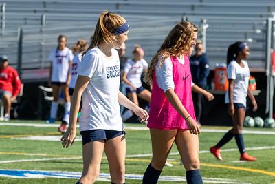 Draper, UT - Saturday October 12, 2019: Girls Varsity Soccer. Juan Diego vs Crimson Cliffs at Juan Diego High School. ©2019 Bryan Byerly
