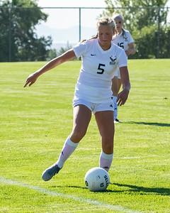 Salt Lake City, UT - Wednesday August 14, 2019: Skyline Girls Soccer - Freshman. Skyline vs East  ©2019 Bryan Byerly