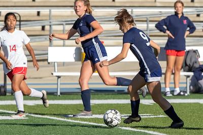 Salt Lake City, UT - Wednesday September 18, 2019: Skyline Girls Soccer - FROSH. Skyline vs East ©2019 Bryan Byerly