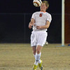Norman High midfielder Matt Hockett gets control of the ball during the Tigers' game against Moore High Tuesday at Gordon Drummond Field.<br /> Kyle Phillips/The Transcript
