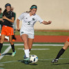 Norman North's Camille Greer kicks the ball  during the Timberwolves' game against Putnam City Tuesday, April 19, 2016. (Kyle Phillips / The Transcript)