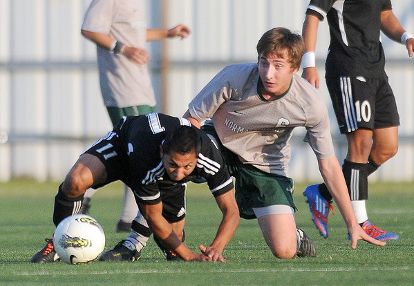 Tuesday, May 8, 2012, during a Class 6A boys soccer semifinal game. Photo by Jerry Laizure