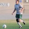 Norman North's matt Kaufmann advances the ball Tuesday, May 8, 2012, during a Class 6A boys soccer semifinal game against Broken Arrow. Photo by Jerry Laizure