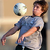 Norman North's Ashton Bray controls the ball against Broken Arrow Tuesday, May 8, 2012, during a Class 6A boys soccer semifinal game. Photo by Jerry Laizure