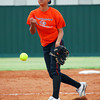 Norman High's Summer Leitka pitches the ball to a Norman North batter during the Clash softball game Tuesday evening at Norman North.<br /> Kyle Phillips/The Transcript