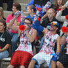 Softball fans cheer on Moore High School as they take on Broken Arrow Friday in the 6A state fast pitch softball tournament at the ASA Hall of Fame Stadium in Oklahoma City.  <br /> Kyle Phillips/The Transcript