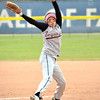 Sequoyah-Tahlequah's Jessica Bluebird (8) pitches to a Little Axe batter  during the 3A state fast pitch softball championship game Saturday at Hall of Fame Stadium in Oklahoma City.<br /> Kyle Phillips/The Transcript
