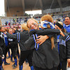 Little Axe players celebrate winning the 3A state fast pitch softball championship game Saturday at the ASA Hall of Fame Stadium in Oklahoma City.  Little Axe beat Sequoyah-Tahlequah 1-0.<br /> Kyle Phillips/The Transcript