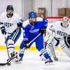 St. John's Prep Boys Varsity Hockey defeated Braintree 3-1 on February 18, 2015 at the Ristuccia Memorial Arena in Wilmington, Massachusetts.