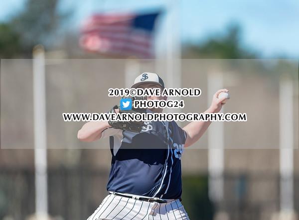 Varsity Baseball: St. John's Prep defeated Newton North 2-0 on April 16, 2019 at St. John's Prep in Danvers, Massachusetts.
