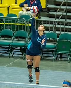 Orem, UT - Tuesday October 29, 2019: High School Girls Volleyball Tournament 4A. Juan Diego vs Desert Hills at UCCU Center. ©2019 Bryan Byerly
